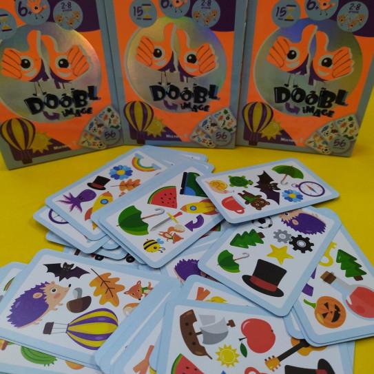 """Детская настольная игра """"Двойная картинка"""" серии """"Doobl Image"""", обычные карты"""