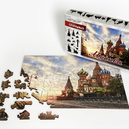 Нескучные игры деревянные пазлы Citypuzzles Москва