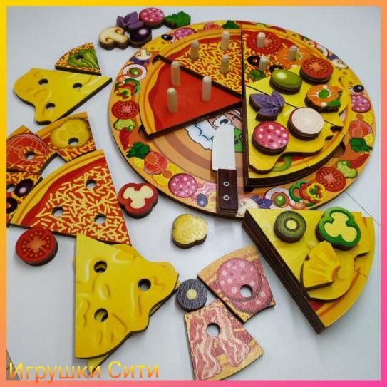 Пицца из дерева 54 элемента,5 слоев