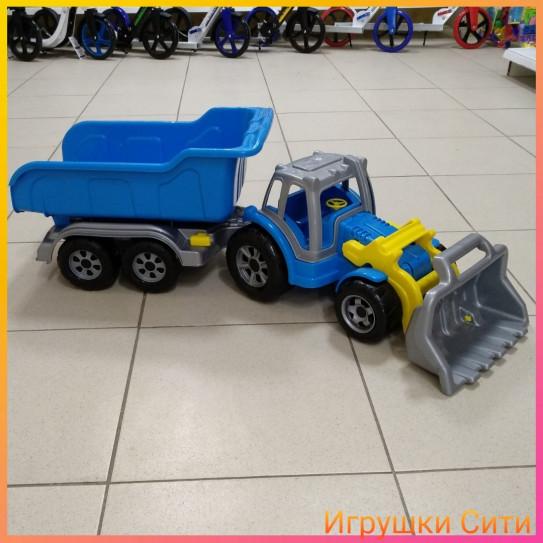 Трактор Большой с большим прицепом и ковшом