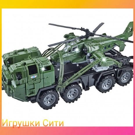 """Арт.256 Военный тягач """"Щит"""" с вертолетом /Нордпласт/"""